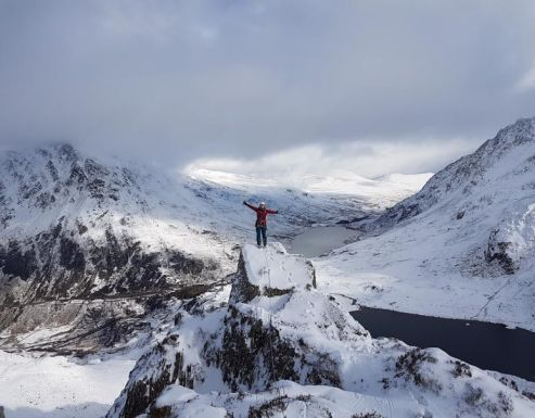 Winter Climbing In Snowdonia